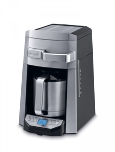Delonghi Coffee Maker Stainless Steel Carafe : Delonghi Programmable-Thermal Carafe-Front Fill DCF6212TTC