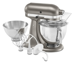 Kitchenaid Architect Stand Mixer - Cocoa Silver - 5 qt + 3 qt KSM160APSCS