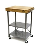 Bradley Smoker Foldable Kitchen Cart,