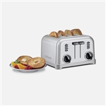 Cuisinart 4 Slice Metal Classic Toaster Refurbished | CPT-180