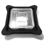 LID W/ REMOVABLE SQUARE SEE THRU  CAP SRV-783