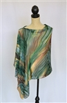 Silk Concepts Versatile Poncho Short Boreal Forest VP-SHORT-BF-1808